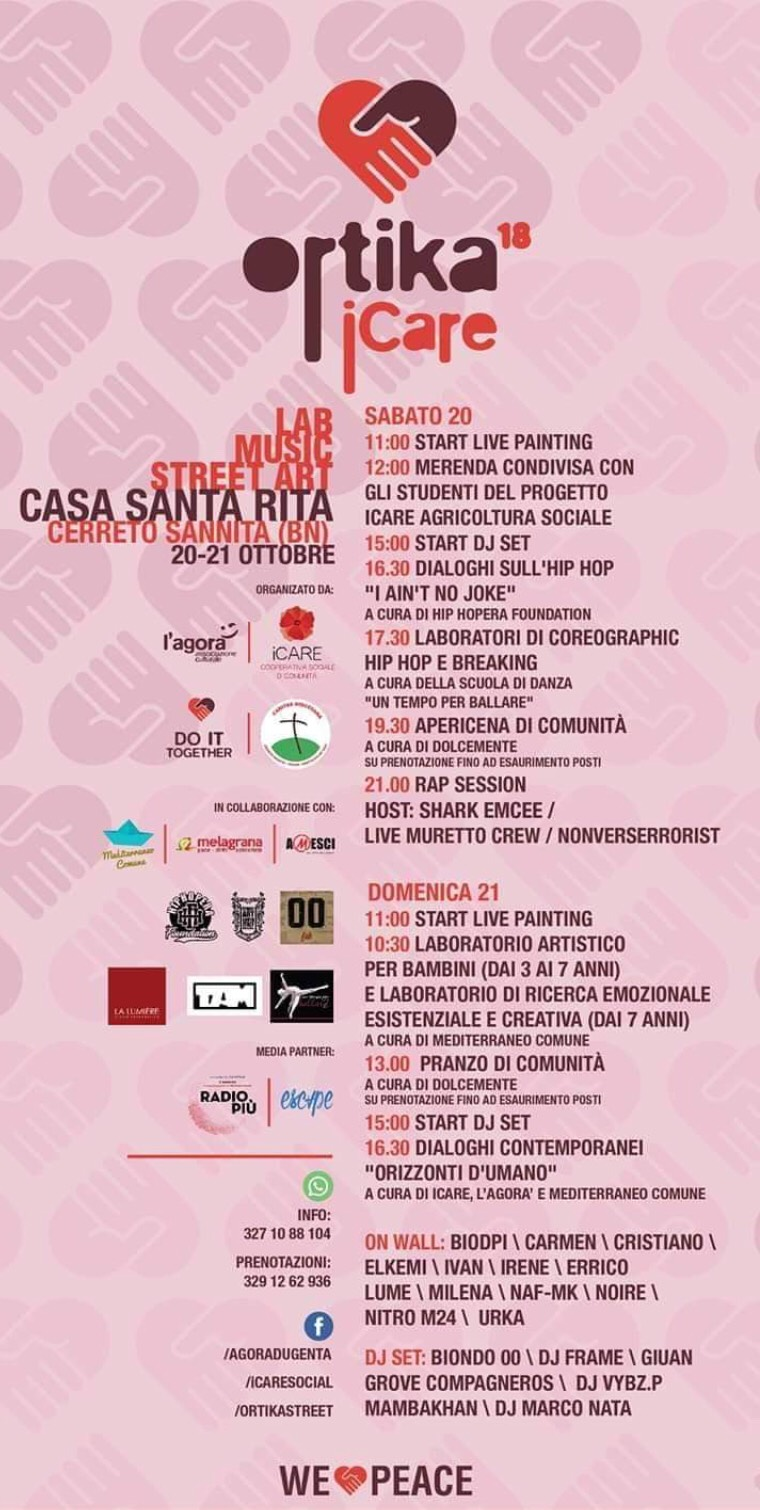 Cerreto Sannita, con l'iniziativa 'Ortika' la street art si fa strumento di inclusione sociale