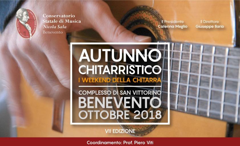 """VII edizione dell'Autunno Chitarristico al Conservatorio """"N. Sala"""" di Benevento"""