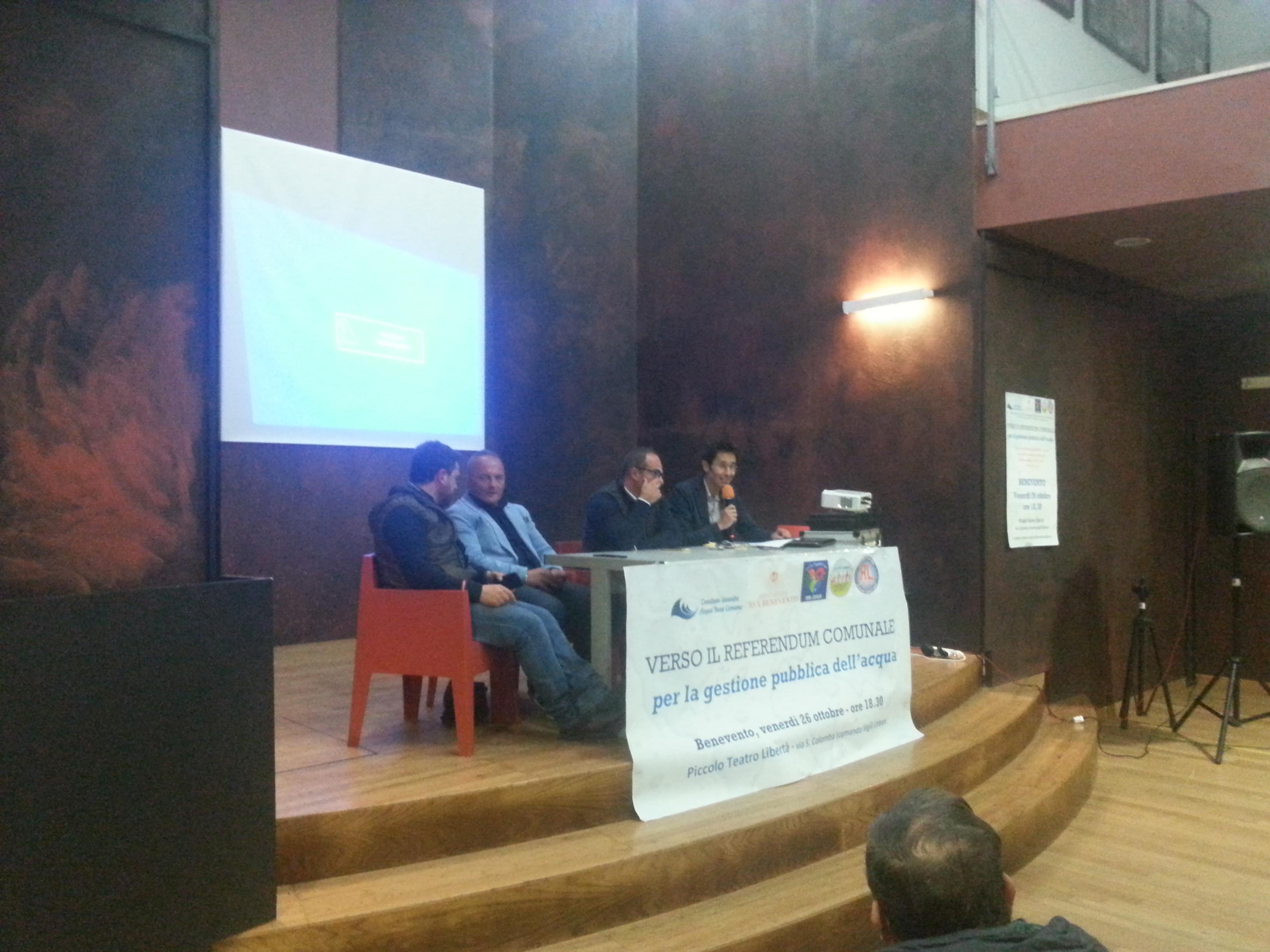 Benevento verso il referendum comunale per la gestione pubblica dell'acqua