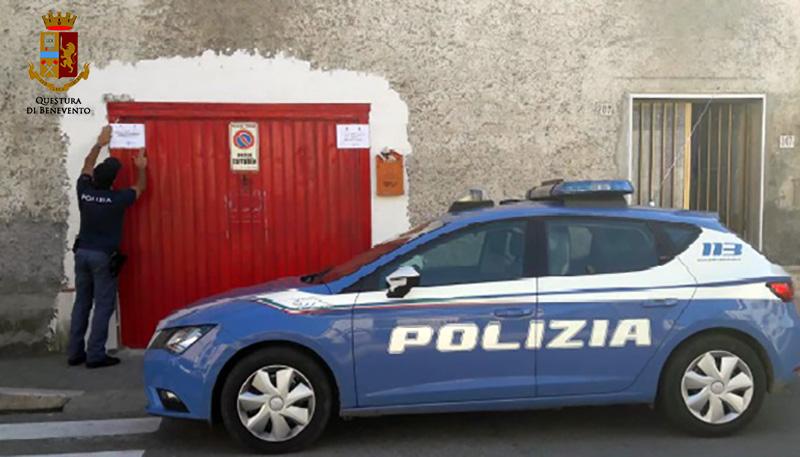 Telese Terme, la Polizia sequestra officina abusiva in pieno centro