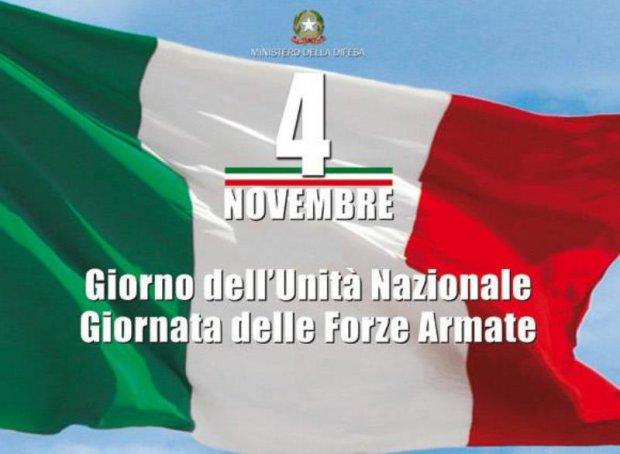 Domani festeggiamenti in onore dell'Unità Nazionale e delle Forze Armate