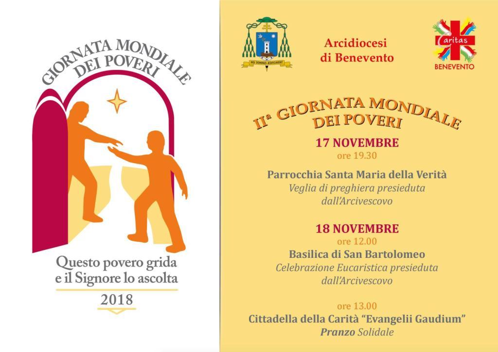 Domani si celebra la Giornata Mondiale dei Poveri