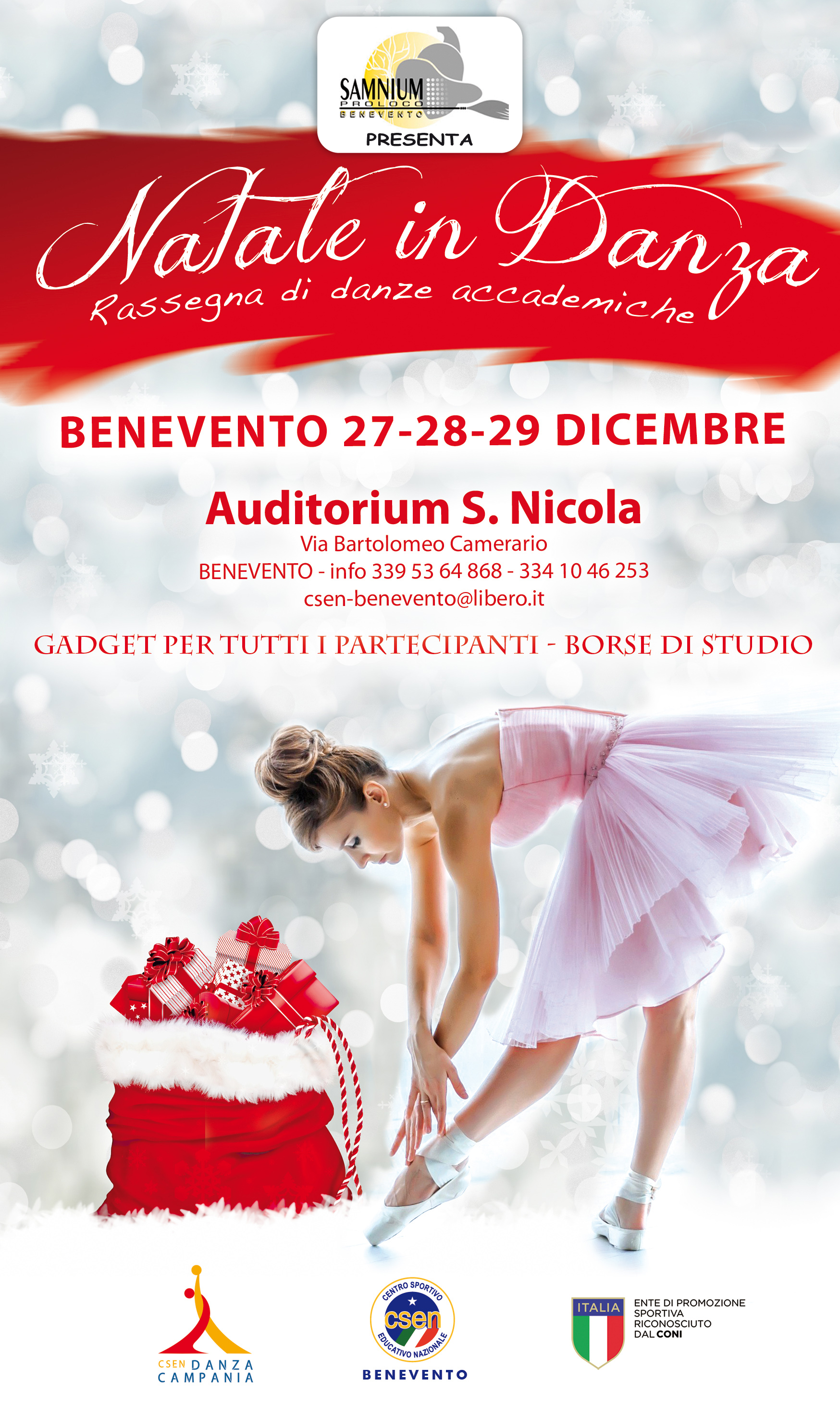 Dal 27 al 29 dicembre, presso l'Auditorium S. Nicola di Benevento, Natele in Danza