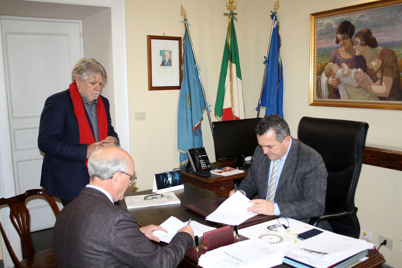 Provincia, Di Maria firma la convenzione per la diga di Campolattaro