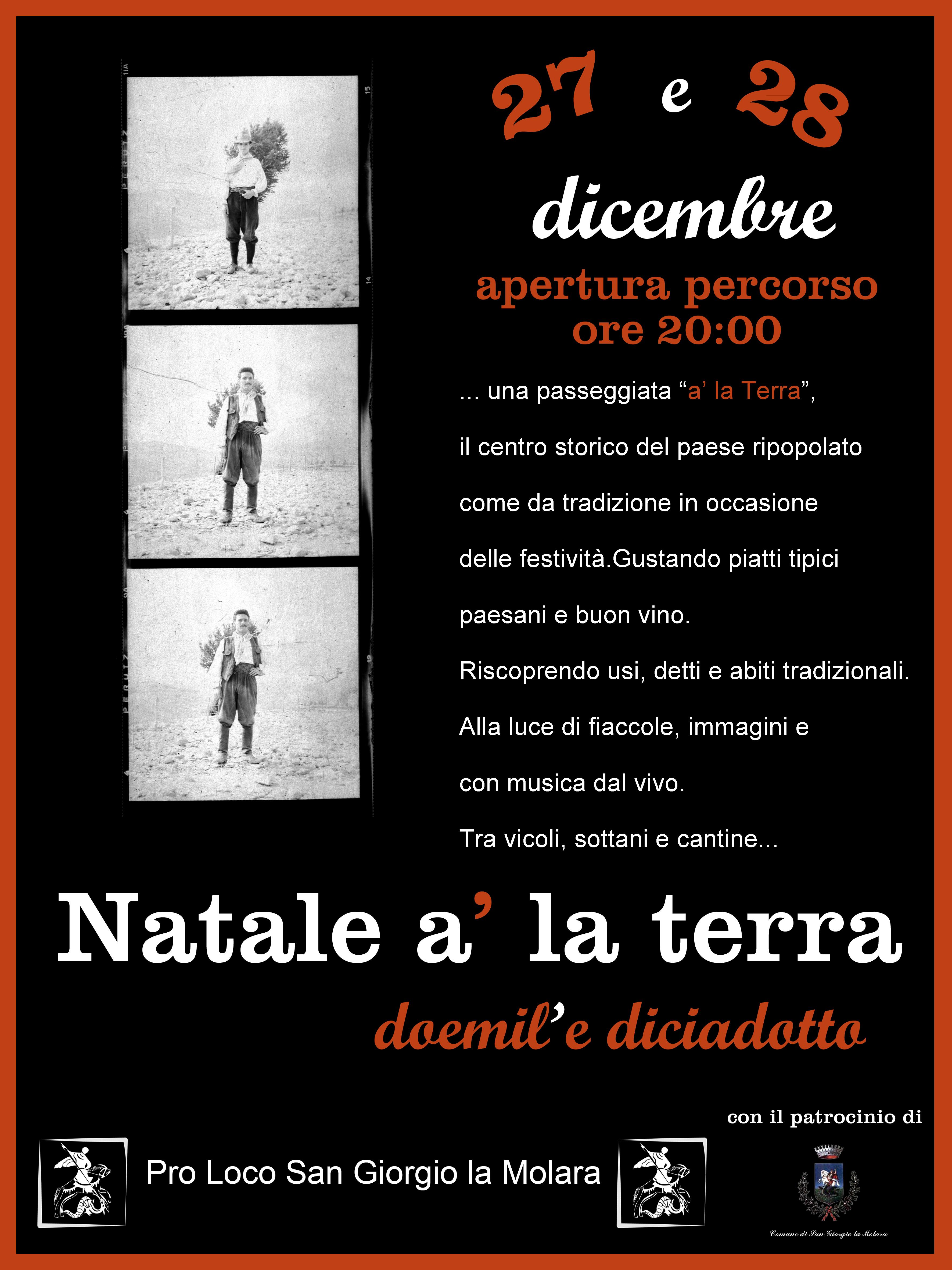 """Il 27 e il 28 dicembre, a San Giorgio La Molara, XXIV edizione di """"Natale A' La Terra"""""""