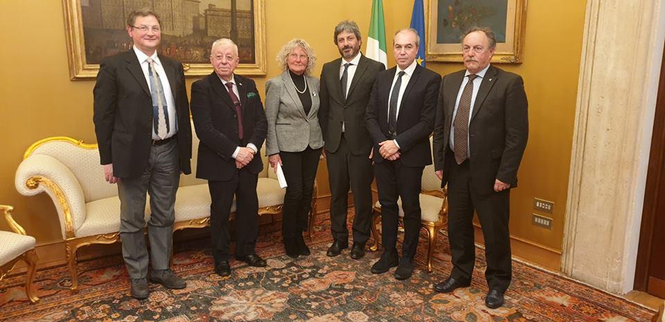 La delegazione Anpci ricevuta dal presidente della Camera dei deputati