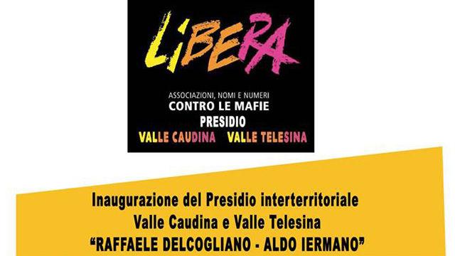 Nasce il presidio di Libera Valle Caudina e Valle Telesina. Inaugurazione domani a Cerreto Sannita