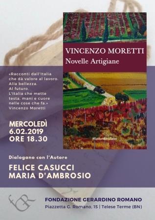 'Novelle Artigiane', a Telese conversazione con Vincenzo Moretti