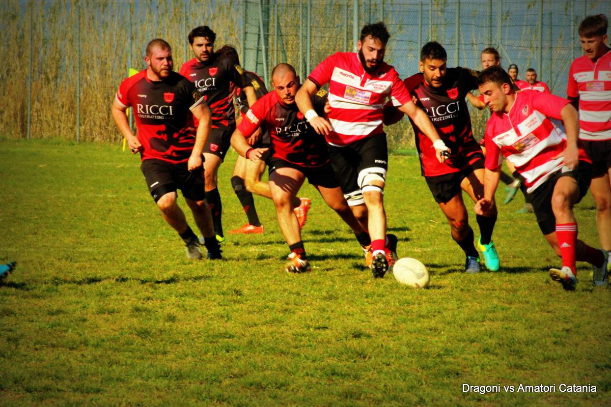 Rugby, i Dagoni dominano anche il Catania