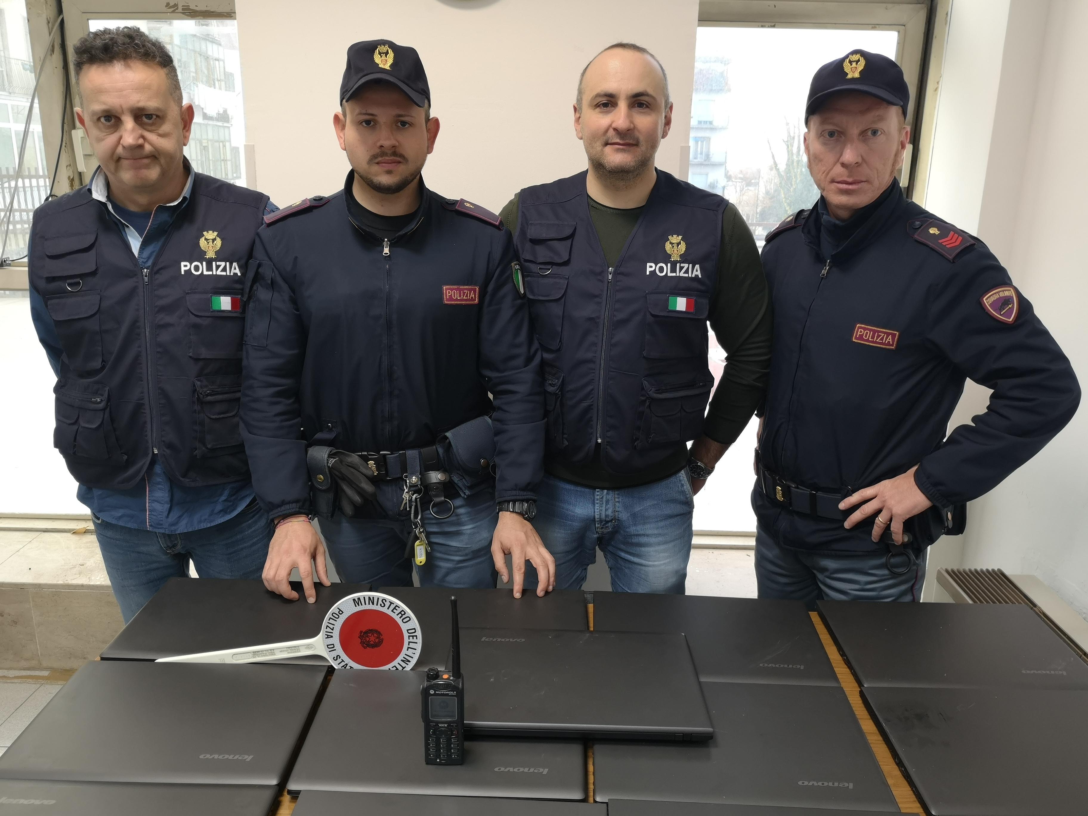 Recuperati e restituiti i 13 computer rubati all'Istituto Alberghiero di Benevento