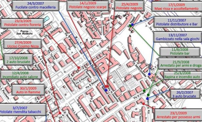 Da Altrabenevento la mappa dei delitti al Rione Libertà come supporto alla Magistratura