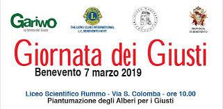 Domani, a Benevento, celebrazione de la Giornate dei Giusti
