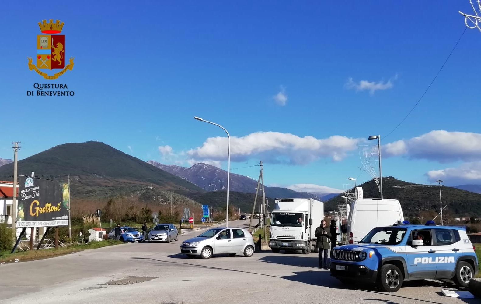 Provincia Sicura, intensificati i controlli della Polizia in Valle Telesina