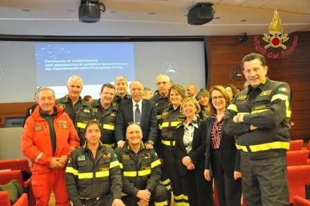 Dalla Protezione Civile Nazionale benemerenze ai Vigili del Fuoco di Benevento