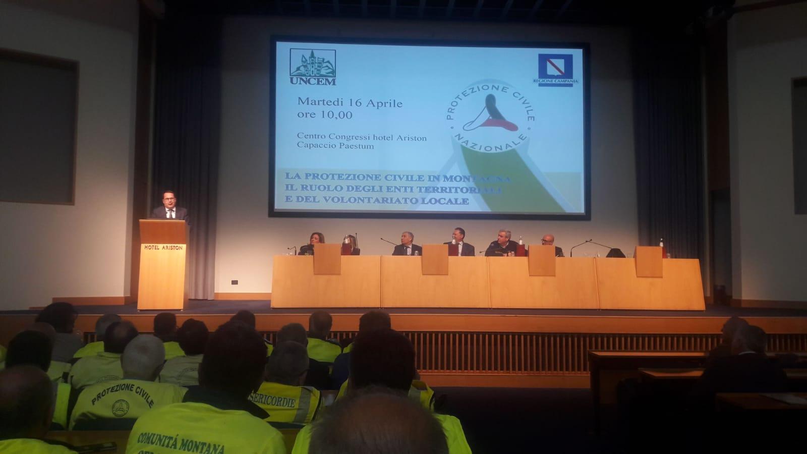 Una delegazione della Provincia ha partecipato al convegno 'La protezione civile in montagna'