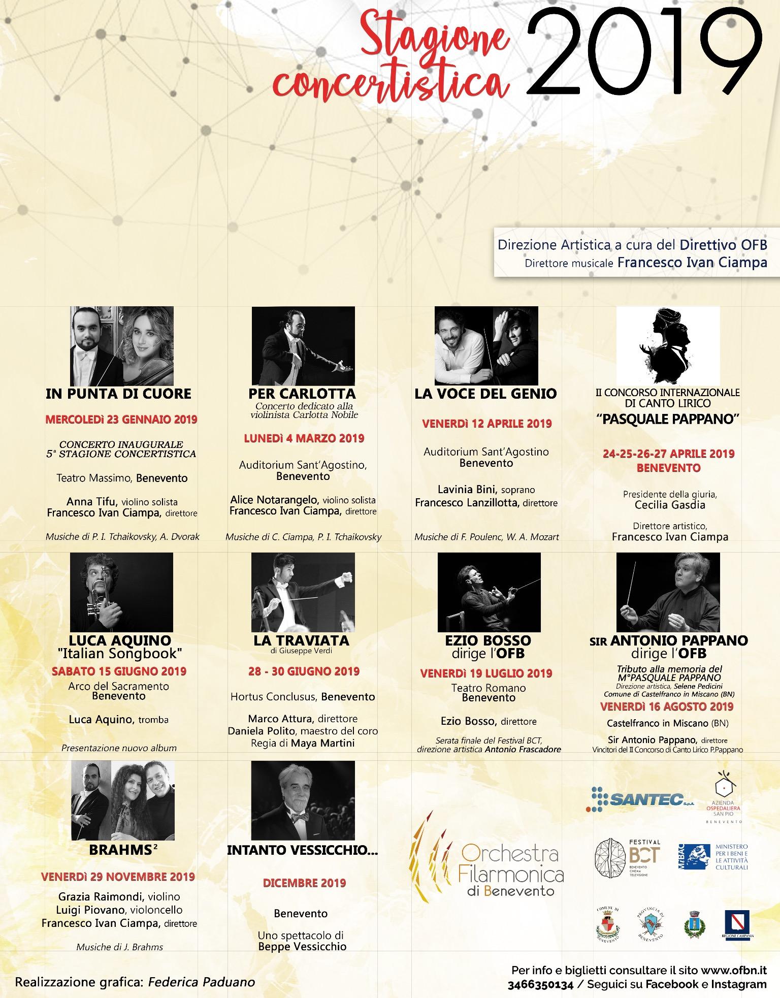 L'Orchestra filarmonica di Benevento annuncia la Stagione concertistica 2019