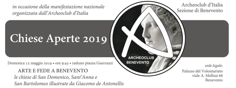 Con Archeo Club, il 12 maggio, Benevento aderisce alla giornata delle chiese aperte