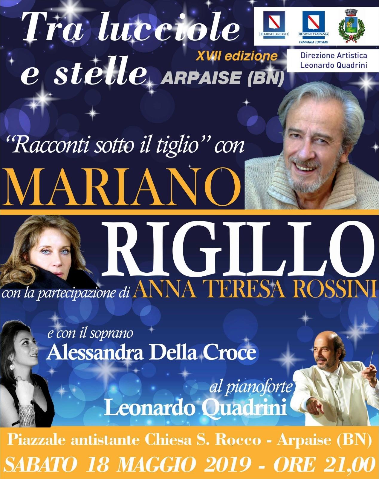 I 'racconti sotto il tiglio' di Mariano Rigillo protagonista della kermesse Tra lucciole e stelle