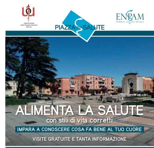 'Piazza della salute' a Benevento in Piazza San Modesto il 25 maggio