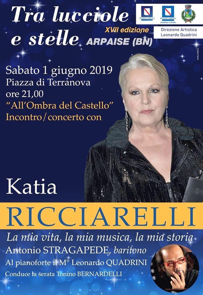 Katia Ricciarelli chiude il festival 'Tra lucciole e stelle' di Arpaise il 1 giugno