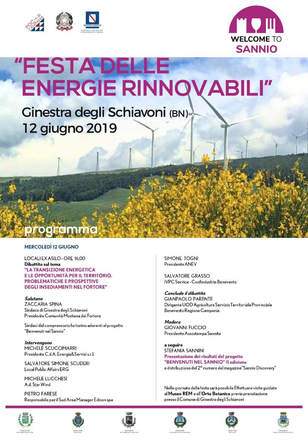 La 'Festa delle Energie Rinnovabili' di Ginestra degli Schiavoni chiude la II edizione di Welcome To Sannio