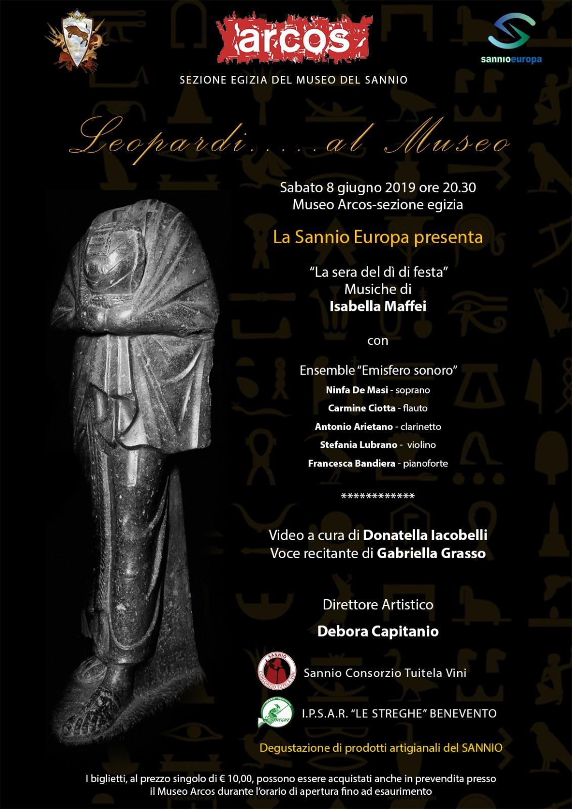 All'Arcos di Benevento, un omaggio ai 200 anni dell'Infinito di Giacomo Leopardi.