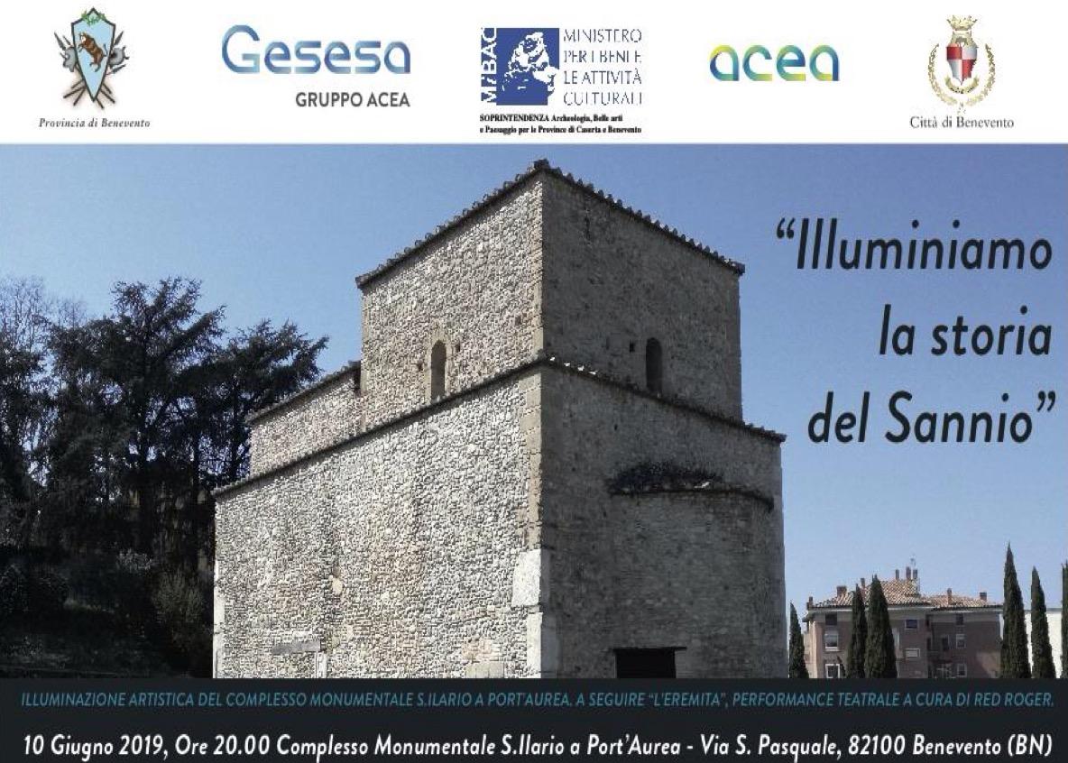 Il 10 giugno illuminazione artistica del Complesso di Sant'Ilario a Port'Aurea