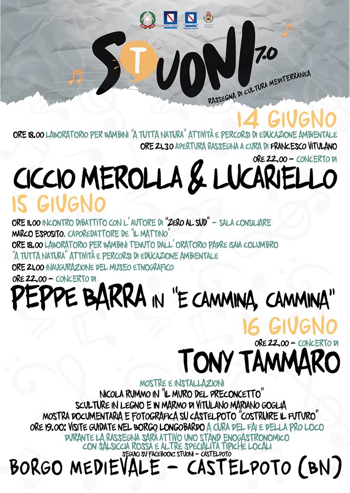 Musica, laboratori per bambini, visite guidate e dibattiti, tutto a Castelpoto dal 14 al 16 giugno