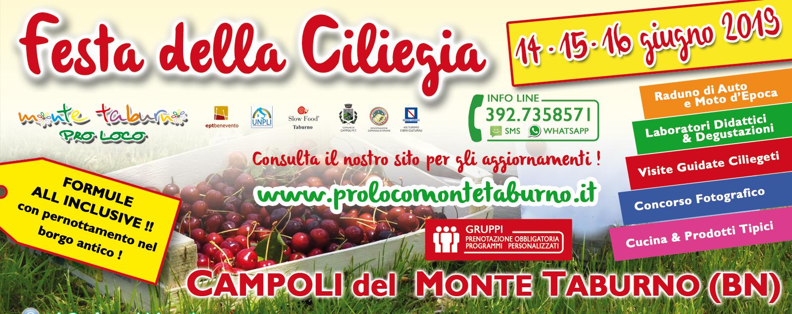 Cucina, laboratori didattici e visite guidate alla Festa della Ciliegia di Campoli Monte Taburno