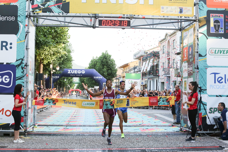Trofeo città di Telesia, vittoria di Eyob Ghebrehiwet. Tra le donne dominio di Sara Dossena