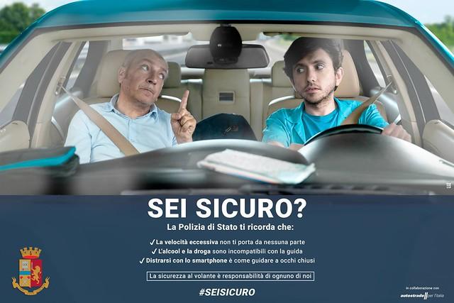 Esodo estivo, al via la campagna #seisicuro contro i rischi della guida spericolata