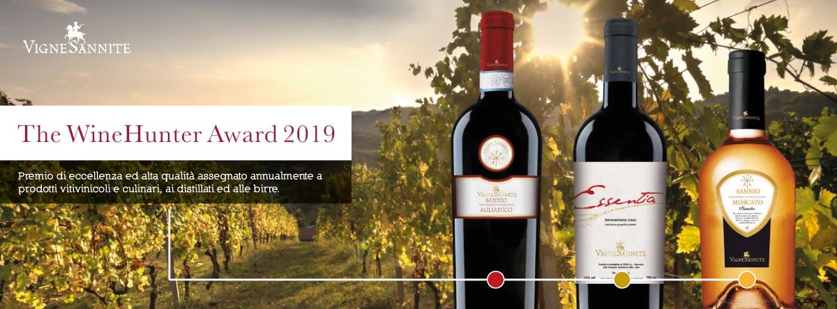 'The WineHunter Award 2019', tre riconoscimenti internazionali per Vigne Sannite