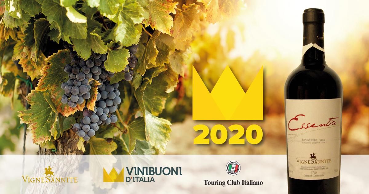 Beneventano IGT Rosso Essentia 2013 premiato dalla guida Vinibuoni d'Italia 2020