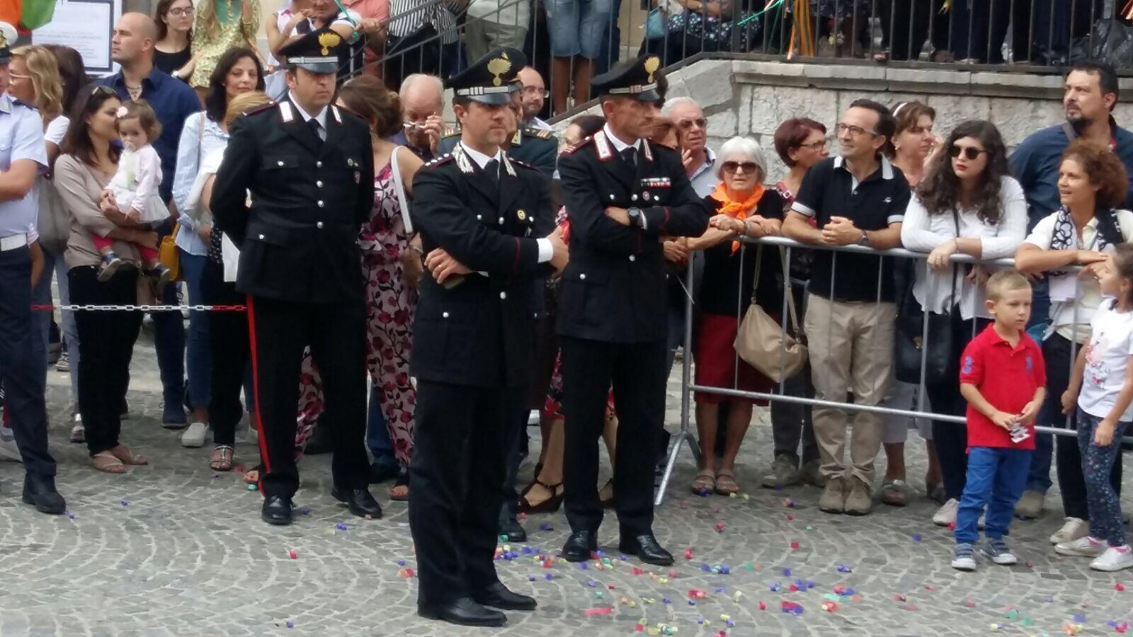 Il saluto del Capitano Francesco Altieri a Cerreto Sannita