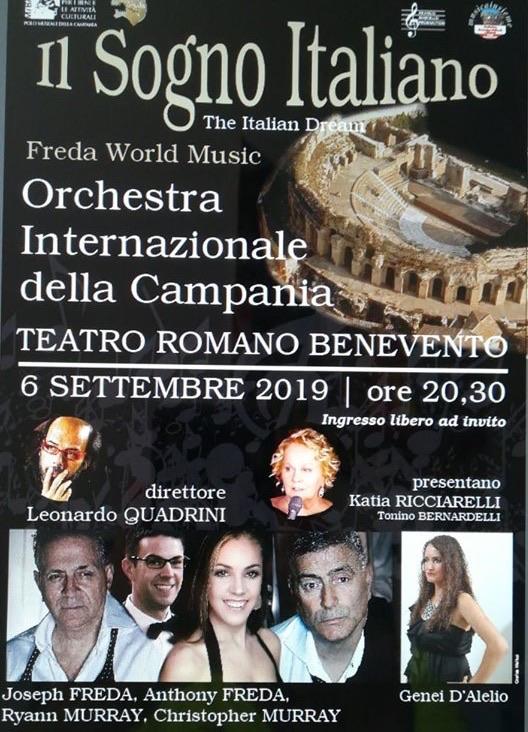 Teatro Romano di Benevento, domani in scena 'Il sogno italiano' diretto dal Maestro Quadrini