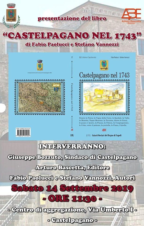 Castelpagano nel 1743: si presenta nel comune sannita il volume di Paolucci e Vannozzi In arrivo