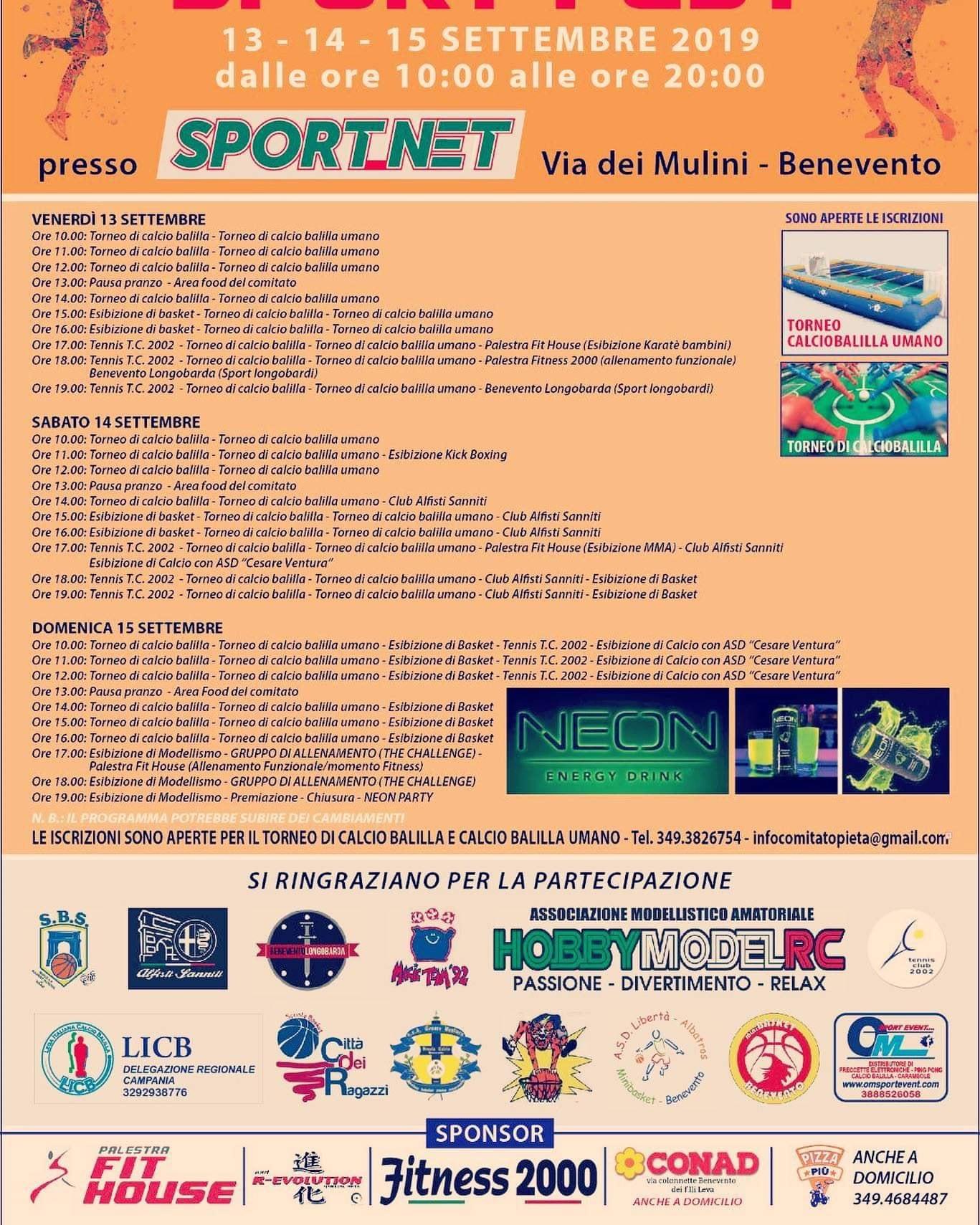 Comitato di quartiere Pietà e zone limitrofe, al via l'evento 'Sport Fest'