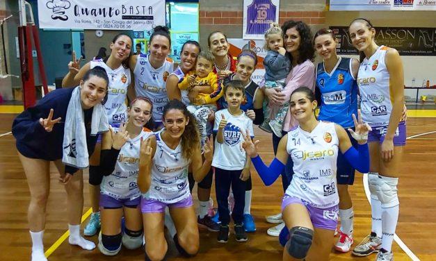 """Le ragazze dell'Accademia Volley Benevento """"corsare"""" col Cercola e terze in classifica"""