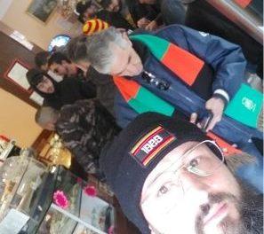 Rinnovato il rapporto di amicizia tra gli ultras giallorossi e quelli del Venezia. Prima del match brindisi e scambio di sciarpe