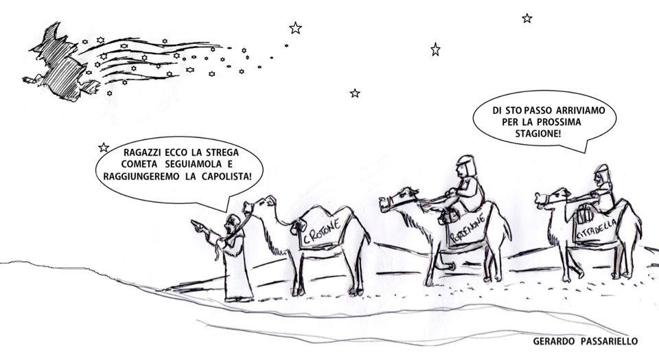 """La vignetta della settimana è sulla """"Strega cometa"""" che vola sempre più in alto"""