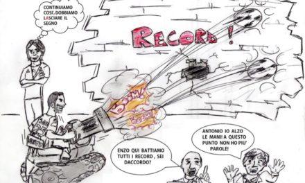 La vignetta giallorossa di Passariello dedicata ai record del Benevento
