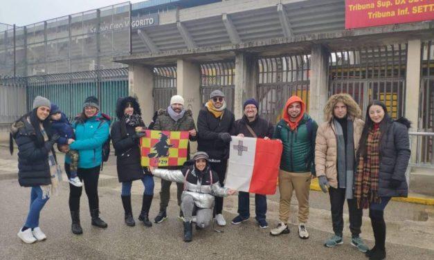 Da Malta per tifare per il Benevento. Stasera sugli spalti del Vigorito nuovi fans della Strega