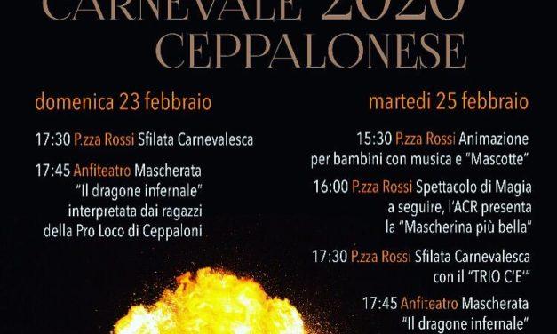 Carnevale Ceppalonese, la festa prende il via domenica 23 febbraio