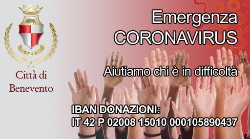 Benevento, il vicesindaco Pasquariello ricorda il conto dedicato alla solidarietà