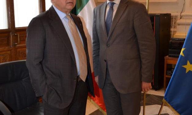 Rubano (sindaco a Puglianello) ringrazia Pasta Baronia per la donazione