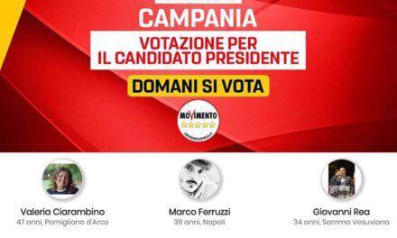 M5S domani votazione candidati presidenza elezioni regionali su piattaforma Rousseau