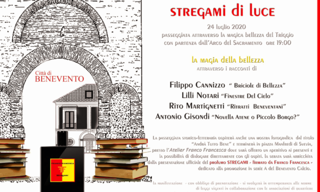 """Benevento, II edizione di 'Stregami di Luce' con presentazione del libro di Cannizzo, """"Briciole di Bellezza"""""""