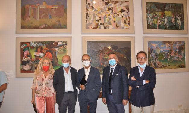 Strega Alberti dona pere pittoriche al Museo del Sannio