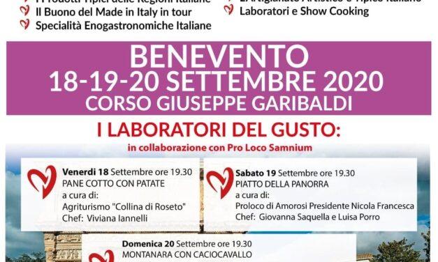 Gusto Italia in tour arriva nel Sannio. A Benevento un fine settimana goloso