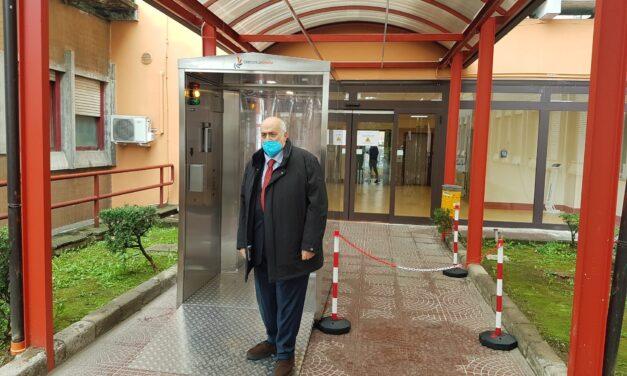All'ospedale San Pio attivate due cabine di igienizzazione individuale anti Covid